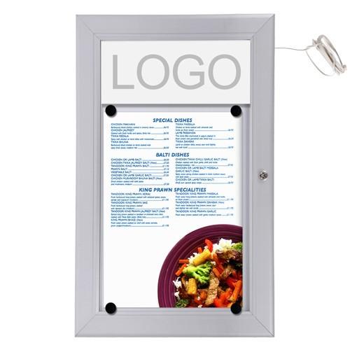 schaukasten led 1 x a4 f r speisekarten alu infokasten magnetisch ebay. Black Bedroom Furniture Sets. Home Design Ideas