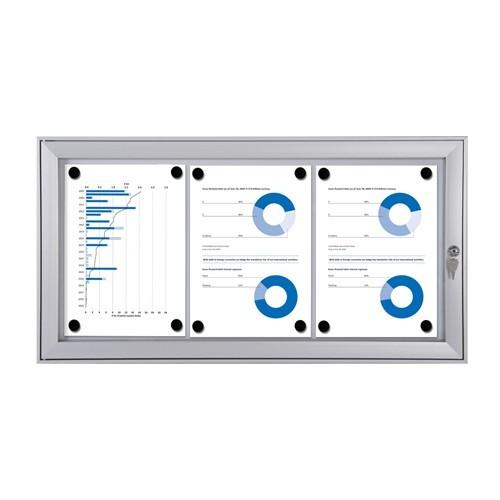 schaukasten s line 3x din a4 aussen vitrine werbekasten infokasten aushang info ebay. Black Bedroom Furniture Sets. Home Design Ideas