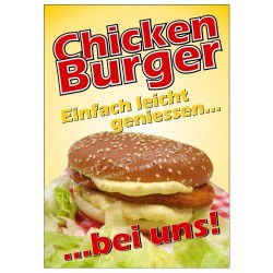 Plakat Chickenburger DIN A1