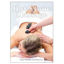 Plakat Hot Stone Massage DIN A1