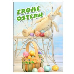 Werbeplakat Frohe Ostern DIN A1