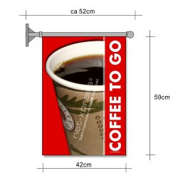 Coffee to go Flagge A2
