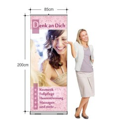 Rollup-Banner Exklusive Beauty-Angebote (85 x 200 cm)