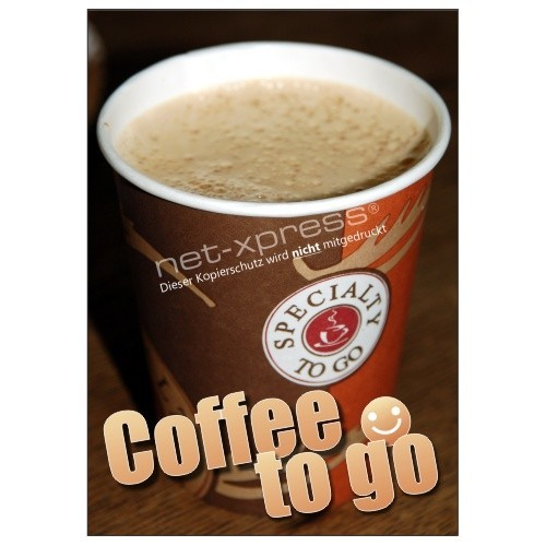 Plakat f r den verkauf von coffee to go din a1 for Coffee to go