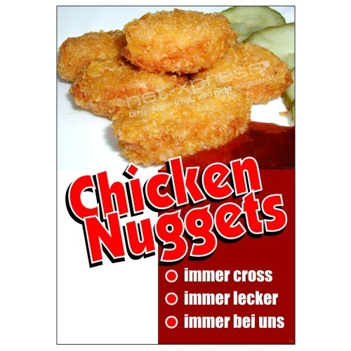 Plakat Nuggets DIN A1