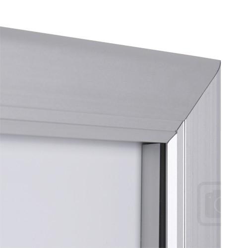 schaukasten 2 x a4 f r speisekarten querformat alu infokasten magnetisch. Black Bedroom Furniture Sets. Home Design Ideas