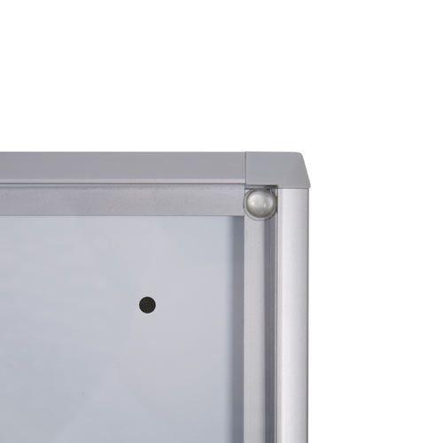 schaukasten xs line 12 x din a4 metallr ckwand b1 norm net. Black Bedroom Furniture Sets. Home Design Ideas